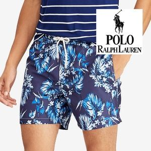 [NWT] POLO Men's Traveler Floral-Print Swim Trunks